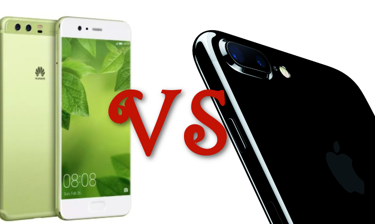 huawei p10 vs iphone 7 plus
