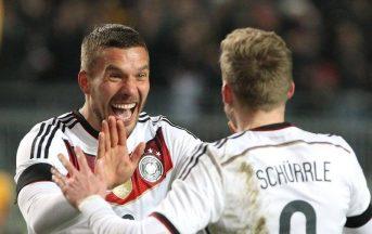 Germania – Inghilterra 1-0 video gol, sintesi e highlights: Podolski gol e addio