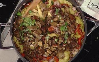 La Prova del Cuoco ricette oggi: tagliatelle mari e monti di Luisanna Messeri