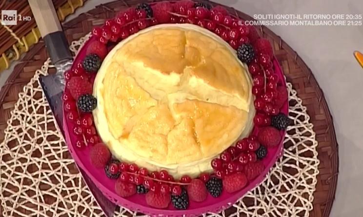 La prova del cuoco ricette dolci oggi, la prova del cuoco ricette dolci, la prova del cuoco ricette oggi, la prova del cuoco 27 marzo 2017, cheesecake giapponese di daniele persegani, cheesecake giapponese la prova del cuoco