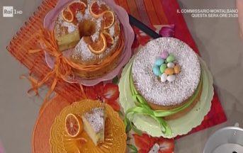 Ricette dolci La Prova del Cuoco: chiffon cake all'arancia di Natalia Cattelani