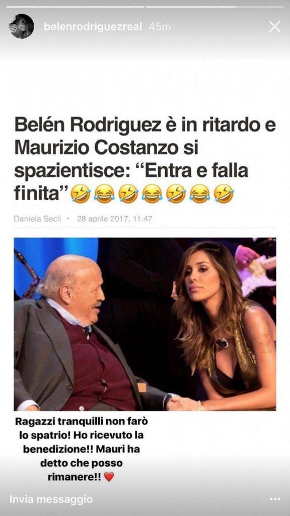 Belen Rodriguez e Maurizio Costanzo