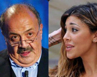 """Belen Costanzo, la showgirl stuzzica Maurizio: """"Mi hai detto di tornare in Argentina, per questo ho fatto tardi"""""""