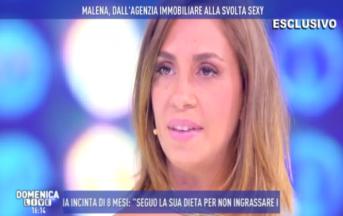 Malena a Domenica Live: l'ex naufraga piange nel salotto di Barbara d'Urso