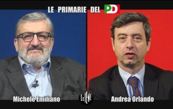 Le Iene, Primarie PD: Michele Emiliano vs Andrea Orlando, l'intervista doppia con ospite speciale (FOTO)