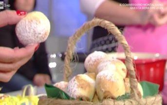 La Prova del Cuoco ricette dolci oggi: ovetti soffici ripieni di Natalia Cattelani