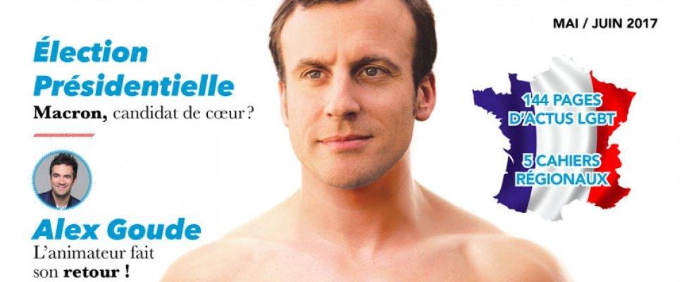 Macron fake news di una rivista gay giocata su ambiguo (e