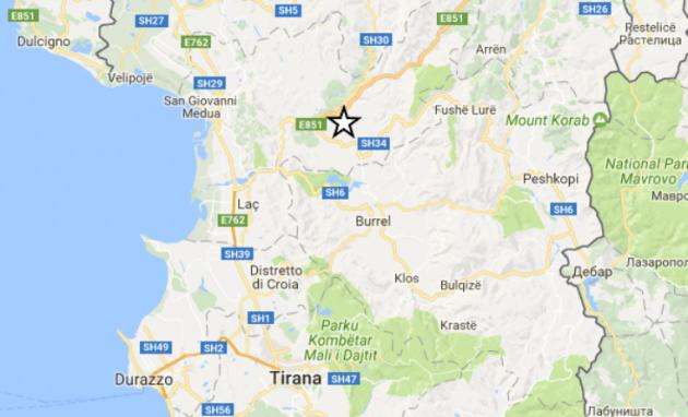 scossa 5.1 albania