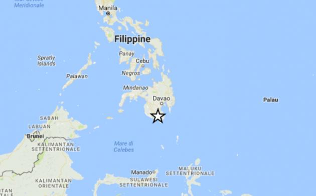 filippine scossa