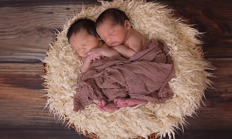 mamma partorisce gemelli a due settimane di distanza, gemelli nati in date diverse,