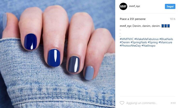 unghie primavera estate 2017, nail art primavera estate 2017, unghie primavera esatte 2017 colori, unghie primavera estate 2017 blu,