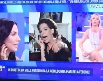Domenica Live lite in diretta: Marisela Federici attacca Barbara d'Urso che risponde visibilmente alterata