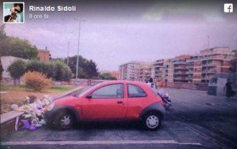 Roma, camper incendiato, auto parcheggiata sui fiori dedicati alle sorelline: la denuncia di Rinaldo Sidoli (FOTO)