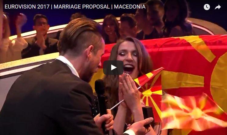 Matrimonio In Diretta : Euorivision song contest proposta di matrimonio in