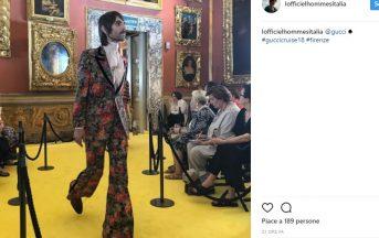 Baustelle, Francesco Bianconi sfila per Gucci a Firenze (FOTO)