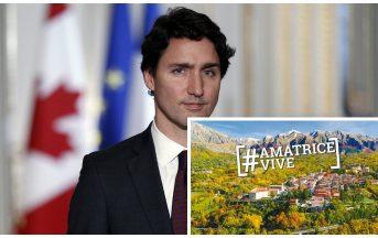 Justin Trudeau: il Canada dona 3 milioni di euro per Amatrice