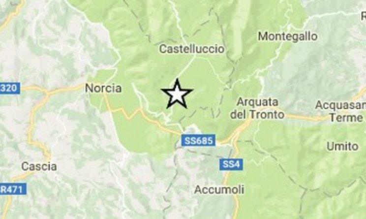 Terremoto in Umbria, INGV: leggera scossa a Norcia (Perugia) magnitudo 2.3