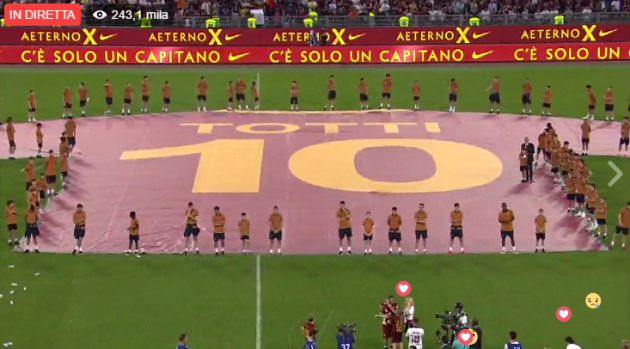 Totti ritiro 2017