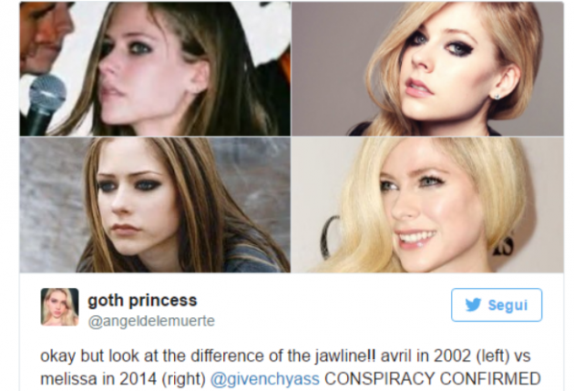 Avril Lavigne morta nel 2003?