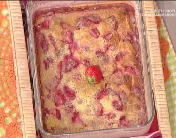 La Prova del Cuoco ricette dolci oggi: clafoutis di fragole, cocco e lime di Anna Moroni
