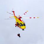 trentino alto adige precipita elicottero
