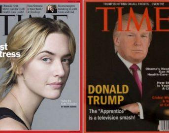 """Trump beccato a """"taroccare"""" una copertina del Time mentre lotta contro le fake news: la commedia è servita"""