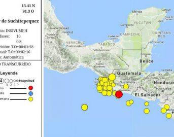 Guatemala, Terremoto di magnitudo 6.8 avvertita al largo della Costa