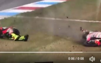 Moto 2 incidente Lorenzo Baldassarri: paura in pista ad Assen durante le Qualifiche (VIDEO)