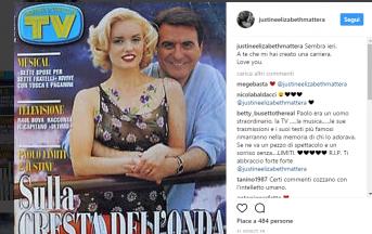 """Paolo Limiti è morto, Justine Mattera su Instagram: """"A te che mi hai amato"""" (FOTO)"""
