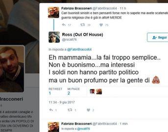 Fabrizio Bracconeri parla di musulmani su Twitter: le parole accese dell'attore contro un altro credo