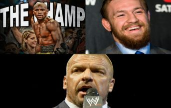 Mayweather vs McGregor conferenza stampa con tappa in WWE? L'invito di Triple H