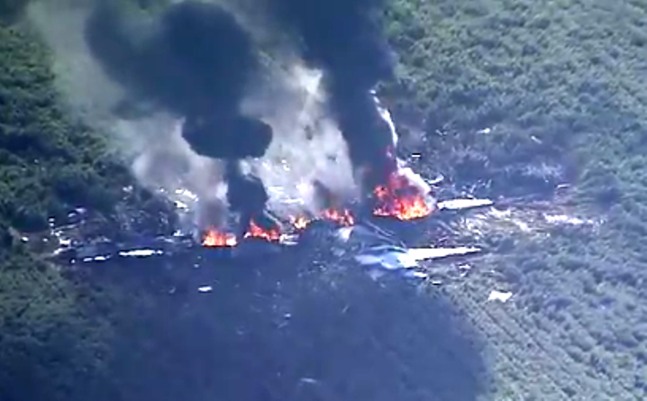 Mississippi: aereo militare si schianta al suolo, almeno 16 morti VIDEO YOUTUBE