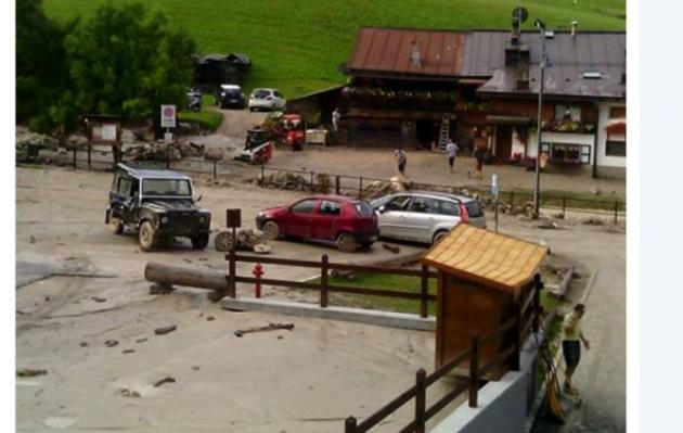 Violento nubifragio a Cortina d'Ampezzo: un morto, travolto da frana