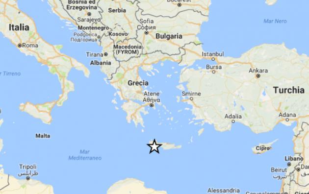 Cartina Geografica Isola Di Creta.Terremoto In Grecia Oggi Scossa Magnitudo 5 2 Al Largo Dell Isola Di Creta Urbanpost