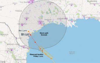 L'uragano Harvey pronto a travolgere gli USA: allarme rosso in Texas