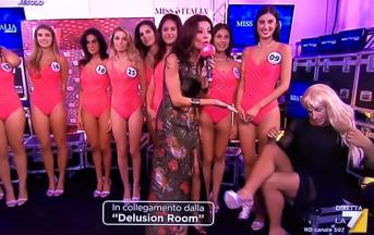 Miss Italia 2017: Gordon ci ha preso gusto e compare all'interno della delusion room