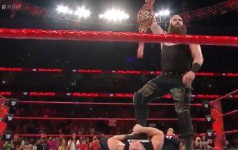 WWE, Braun Strowman distrugge Brock Lesnar e John Cena nella stessa serata