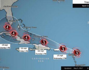 Irma, l'uragano di categoria 5 potenzialmente catastrofico minaccia gli Usa