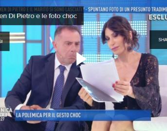 Carmen Di Pietro a Domenica Live: il tradimento di Giuseppe Iannoni (VIDEO)