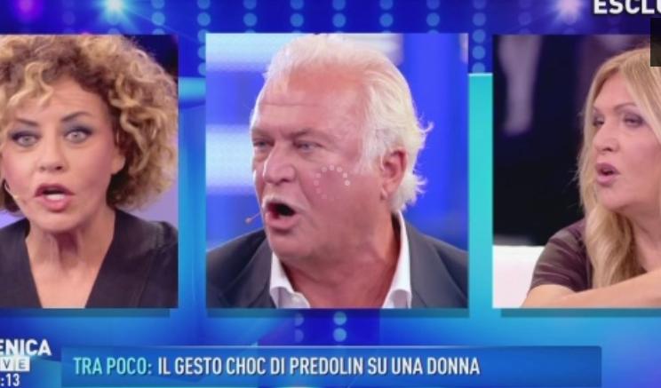 Nancy Coppola litiga con il dietologo Lemme a Domenica Live