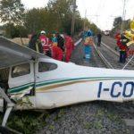 roma aereo ultraleggaro sui binari alta velocità