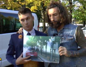Striscia la Notizia oggi, 20 novembre 2017: Vittorio Brumotti coglie in fallo Bruno Vanzan