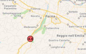 Terremoto Parma oggi 19 novembre 2017: scossa di magnitudo 4.4