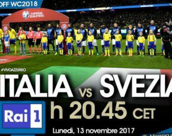 Diretta Italia-Svezia: risultato finale 0-0