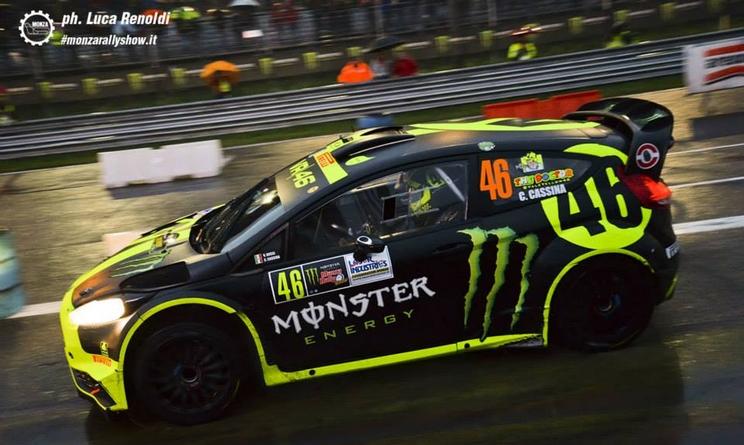 Valentino Rossi a caccia della sesta vittoria al Monza Rally Show