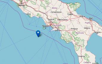 Terremoto oggi Golfo di Napoli: scossa magnitudo 3.7 nel Tirreno meridionale