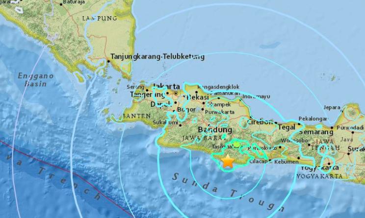 terremoto oggi giava indonesia
