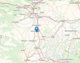Terremoto nel Cuneese: scossa magnitudo 3.0 a sud ovest di Caramagna