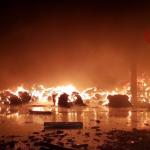 pavia incendio capannone