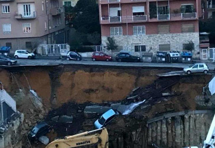 roma crollo strada alla balduina